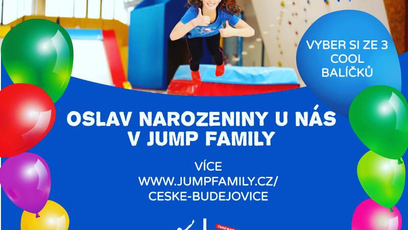 NAROZENINOVÉ OSLAVY v JUMP FAMILY