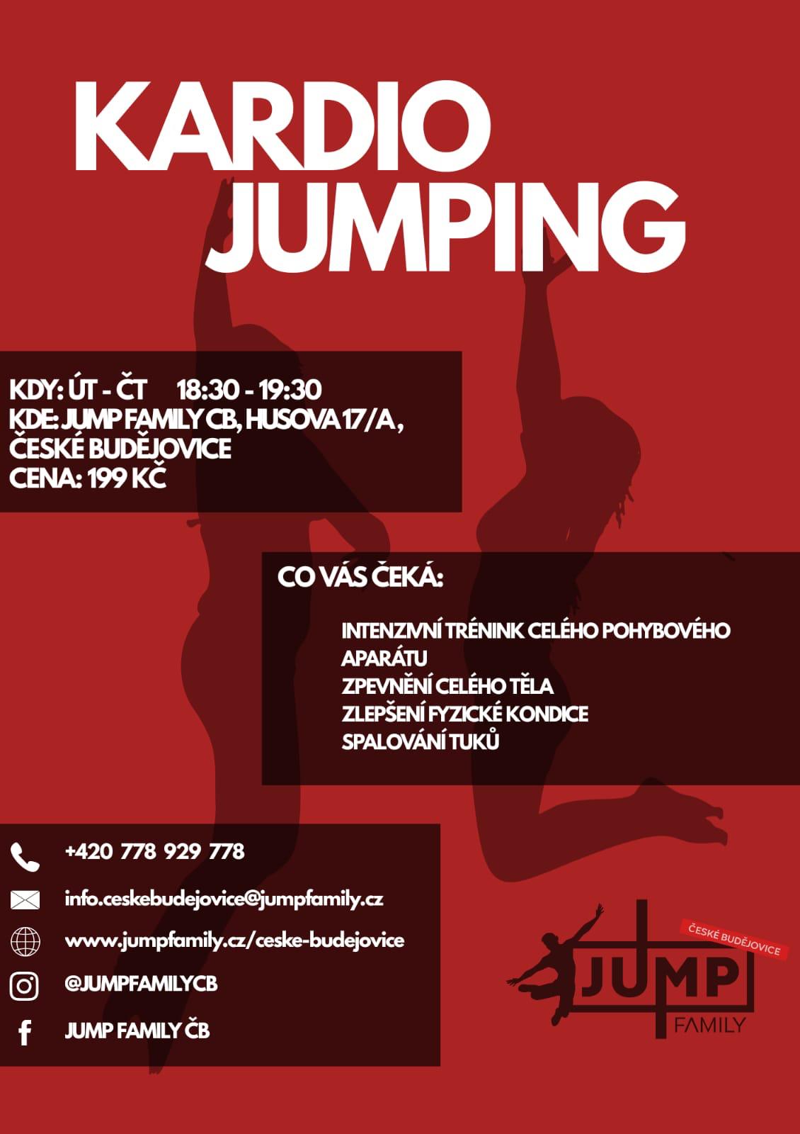KARDIO JUMPING KAŽDÉ ÚT a ČT od 18:30-19:30